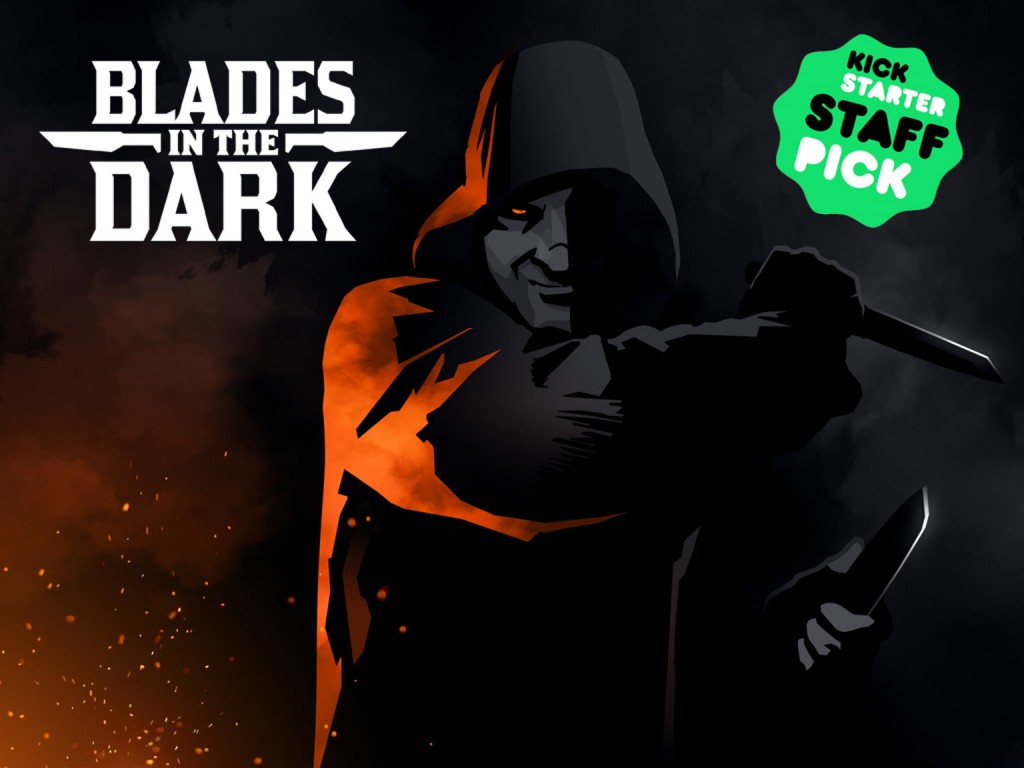 Иллюстрация Blades in the Dark с проекта Kickstarter.